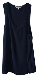 Banana Republic Embellished Sheer Tank Top Dark blue
