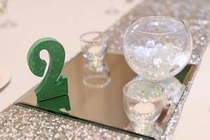 8 Silver Sequins Table Runners