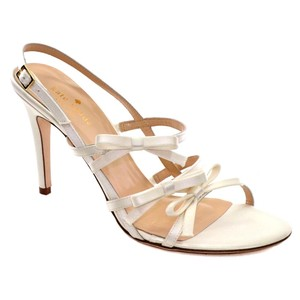 Kate Spade Satin Italy Formal Ivory Sandals