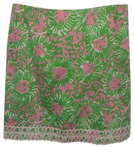 Lilly Pulitzer Skirt Green & Pink