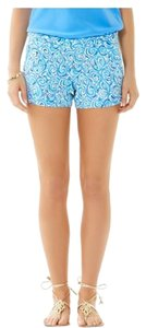 Lilly Pulitzer Blue Pattern Dress Shorts Blue/White/Navy