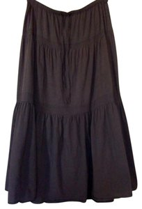 Gap Full Length Cotton Woven Maxi Skirt Brown