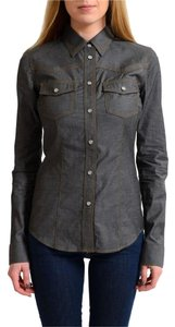 Versace Collection Button Down Shirt Gray