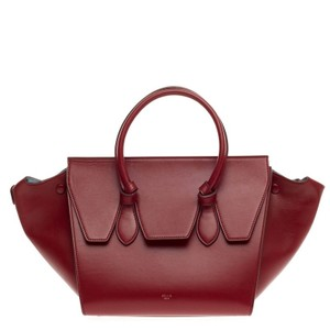 Cline Celine Leather Tote in Red