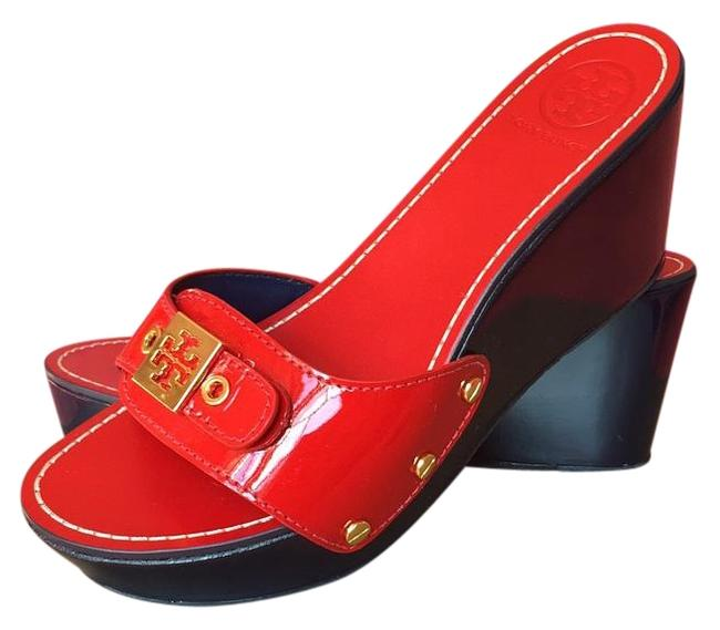 Item - Red Rosie Mules/Slides Size US 6.5 Regular (M, B)