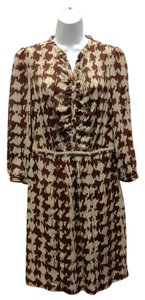 Burberry Brit short dress brown Houndstooth on Tradesy