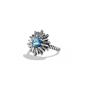 David Yurman Starburst Cable Ring with Blue Topaz