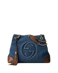 Gucci Soho Denim Shoulder Bag