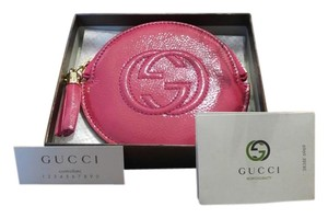 Gucci Gucci 337946 Soho PINK Patent Leather GG Coin ChangePurse