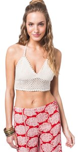 Earthbound Trading Co Bandeau Festival Beige Halter Top