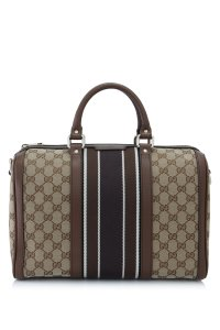 Gucci Boston Gg Satchel in Brown