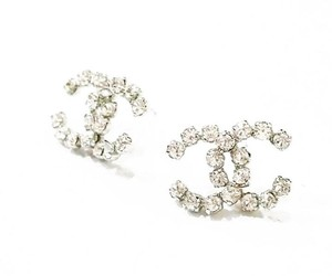 Chanel Chanel CC Rocky Super Shiny Rhinestone Piercing Earrings