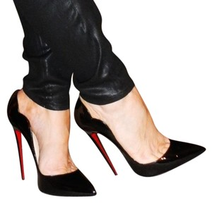 Christian Louboutin Hot Chick Patent Leather 130mm Black Pumps