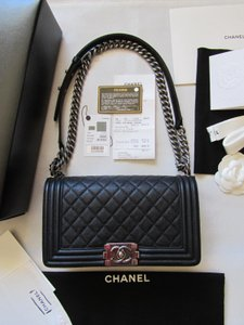 Chanel Classic Grained Calfskin Shoulder Bag