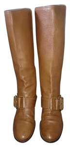 Dolce&Gabbana Leather Gold Hardware Tan Boots