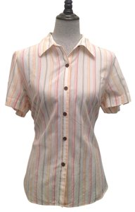 Sag Harbor Top Red/White/Peach
