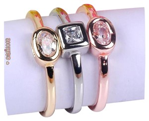 Other New 3pc Tri Color Stackable 925 Ring Set
