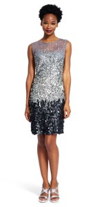 Adrianna Papell Beaded Illusion Dress