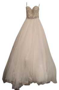 Justin Alexander Tulle Ball Gown With Beaded Sweetheart Bodice 8724 Wedding Dress