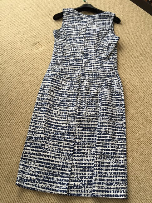 Derek Lam short dress dark royal blue and white on Tradesy