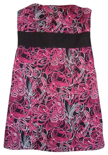 Preload https://item1.tradesy.com/images/ann-taylor-loft-pink-black-white-mid-length-night-out-dress-size-12-l-196040-0-0.jpg?width=400&height=650