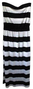 Black and White Maxi Dress by Gap Maxi Stripes New With Tags Full Length Strapless