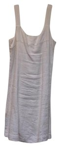 J. Jill short dress White Linen Zipper on Tradesy