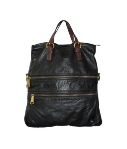 Fossil Explorer Leather Purse Hobo Bag