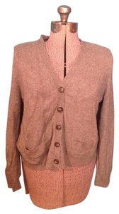 Lands' End Wool Nylon Cotton Buttons Pockets Cardigan