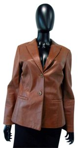 Tango Long Sleeve Button Leather Leather Jacket