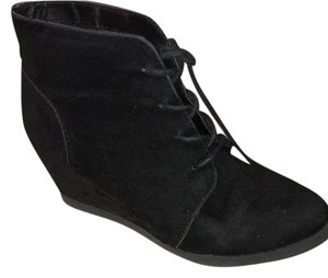 Madden Girl Wedges Black Suede Boots