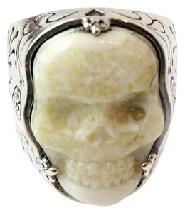 King Baby King Baby Studio Classic Skull Carved Ivory Ring