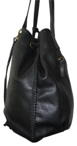 Lucky Brand Drawstring Bucket Tote in Black