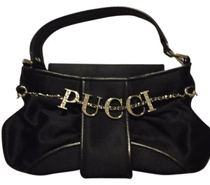 Emilio Pucci Satin Rhinestone Shoulder Bag