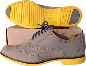 Cole Haan Grey/Yellow & Blue laces Flats