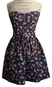 Sans Souci short dress Floral Bodice Scaloped Fitted on Tradesy