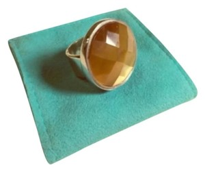 Pyrrha Pyrrha Faceted Tigers Eye & Sterling Silver 925 Statement Ring