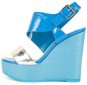 Dior Blue Wedges