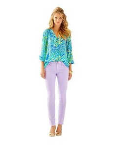 Lilly Pulitzer Jean Purple Skinny Jeans-Coated