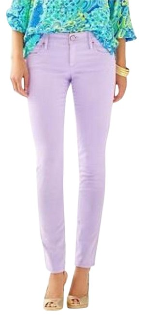Item - Lilac Coated Worth - Sateen Skinny Jeans Size 27 (4, S)