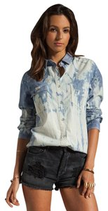 Rag & Bone Button Down Shirt Blue