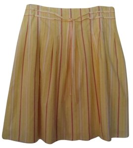 Old Navy Summer Stripes Skirt Yellow