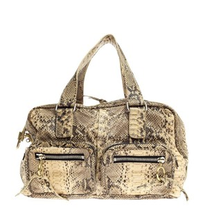 Chlo Chloe Python Satchel in Brown and Beige