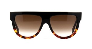 Cline -NEW- CELINE Shadow CL 41026 FU5 BLACK TOP - TORTOISE BOTTOM