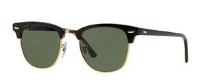 Ray-Ban RB 3016 W0365 (color) BLACK RAY BAN CLUBMASTER SUNGLASSES FREE 3 DAY SHIPPING
