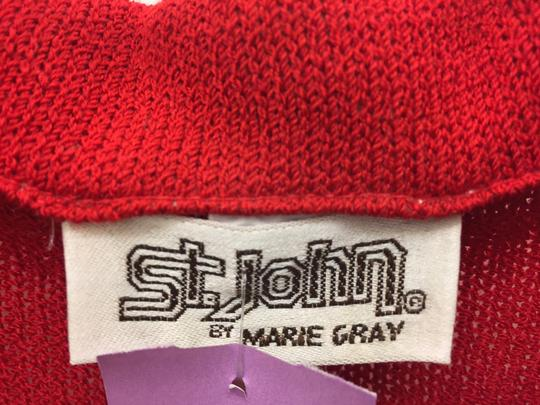 70%OFF St. John Marie Grey Collection Red Jacket - 82% Off Retail