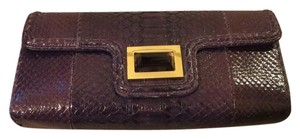 Kara Ross Python New Purple Clutch