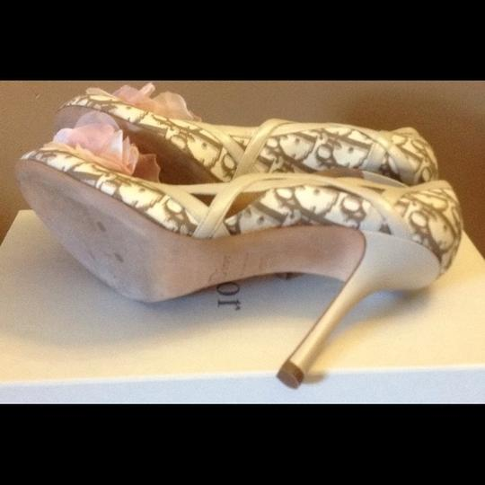 Dior Cream and Brown Pumps