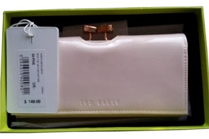 Ted Baker NWT Ted Baker Patent Leather Caleena Wallet-Pale Pink