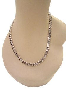 Versani Unisex Heavy Sterling Silver Cuban Chain Necklace 130 gr Solid Superb!